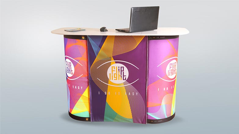 Fliplight-Portable Trade Show Counter